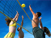 Sport beach volley