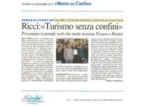Il Resto del Carlino Pesaro Ricci Turismo senza confine