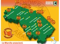 Gusta l'arancione le Marche in piazza
