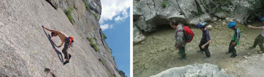 Sport arrampicata trekking