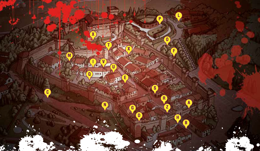 Mappa Gradara - Zombie Night Porta Inferi